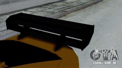 GTA 5 Karin Sultan RS Drift Big Spoiler PJ para GTA San Andreas vista direita