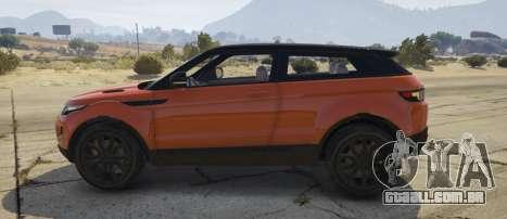 GTA 5 Range Rover Evoque 3.0 vista lateral esquerda