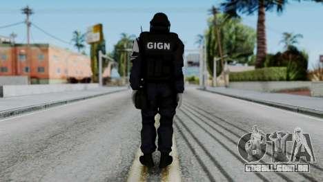 GIGN Gas Mask from Rainbow Six Siege para GTA San Andreas terceira tela