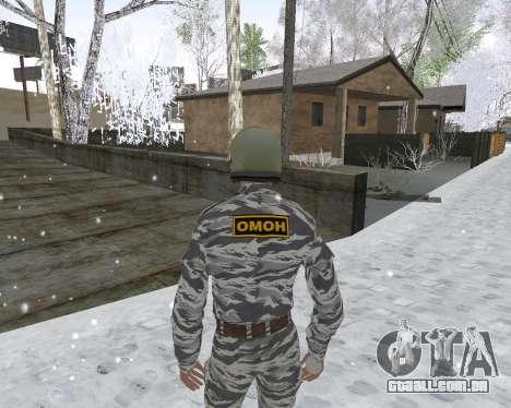 O OMON para GTA San Andreas segunda tela