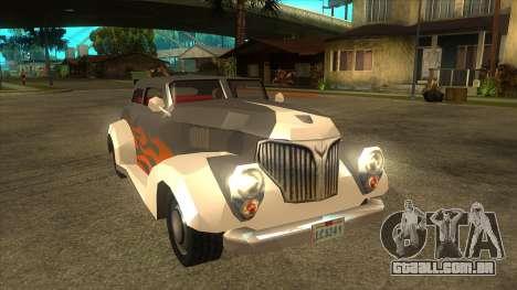 GTA LCS Thunder-Rodd para GTA San Andreas vista traseira