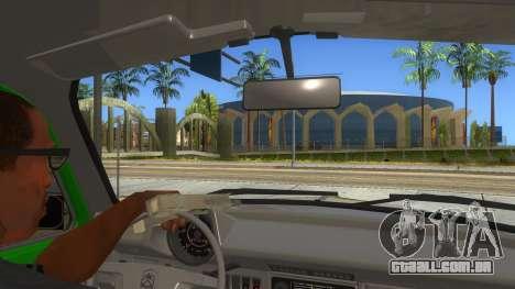Volkswagen Beetle Pizza para GTA San Andreas vista interior