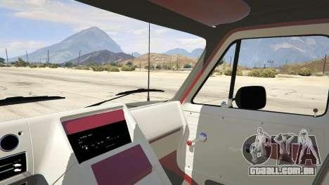GTA 5 GMC Vandura (A-Team Van) traseira direita vista lateral
