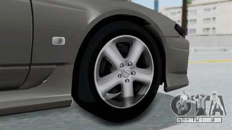 Nissan Silvia S15 Spec-R 2000 para GTA San Andreas traseira esquerda vista