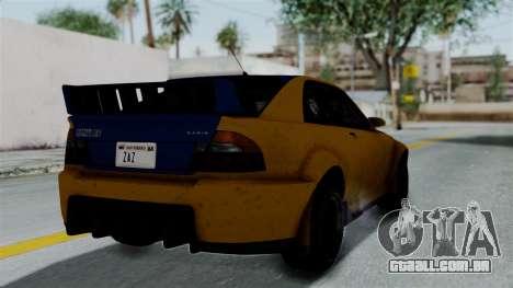 GTA 5 Karin Sultan RS Rally PJ para GTA San Andreas esquerda vista