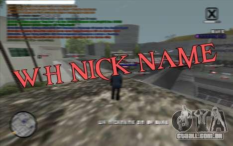 WH Nick Name para GTA San Andreas