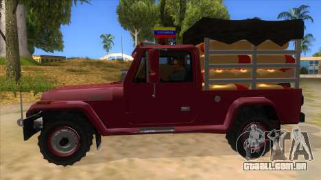 Jeep Pick Up Stylo Colombia para GTA San Andreas esquerda vista