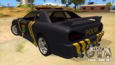 Elegy NR32 Police Edition Grey Patrol para GTA San Andreas traseira esquerda vista