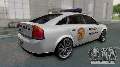 Opel Vectra 2005 Policia para GTA San Andreas traseira esquerda vista