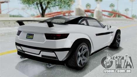 GTA 5 Coil Brawler Coupe para GTA San Andreas traseira esquerda vista