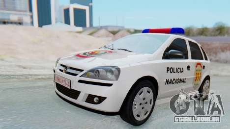 Opel Corsa C Policia para GTA San Andreas