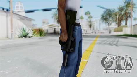 P90 Green para GTA San Andreas terceira tela