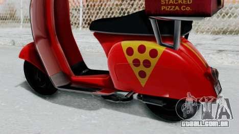 GTA 5 Pizza Boy para GTA San Andreas vista direita