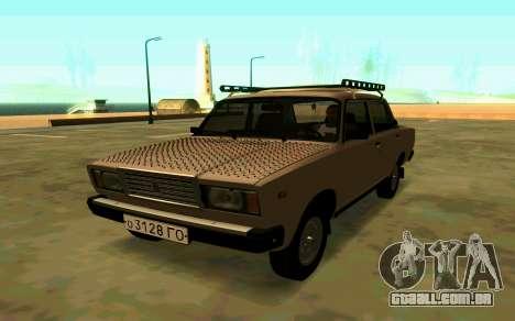 VAZ 2107 de Inverno para GTA San Andreas