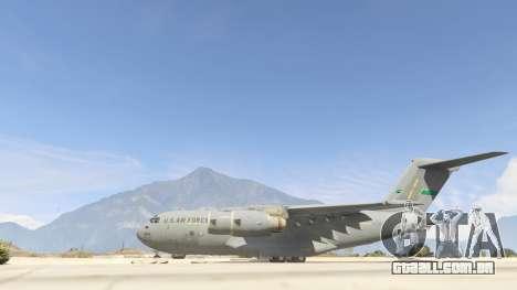 GTA 5 C-17A Globemaster III v.1.1 segundo screenshot