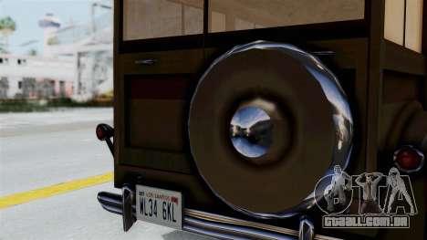 Lincoln Continental 1942 Mafia 2 v1 para GTA San Andreas traseira esquerda vista