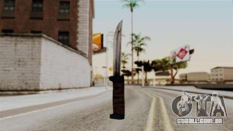 Batman Arkham City - Knife para GTA San Andreas segunda tela