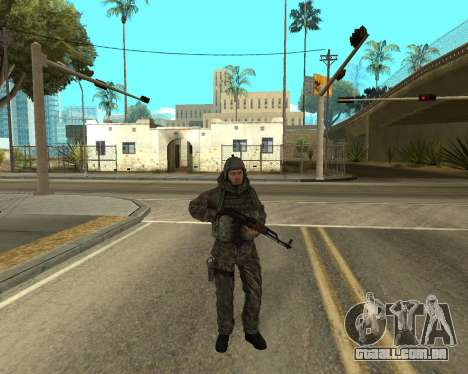 O exército russo Skin Pack para GTA San Andreas sétima tela
