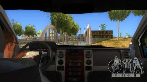 Ford F-150 2015 para GTA San Andreas vista interior