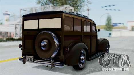 Lincoln Continental 1942 Mafia 2 v1 para GTA San Andreas esquerda vista