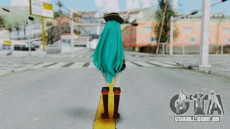 Hatsune Miku (Pirete) para GTA San Andreas terceira tela