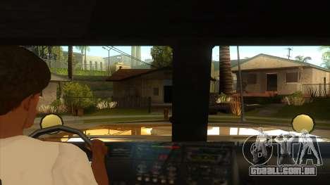 GTA V HVY Barracks OL para GTA San Andreas vista interior