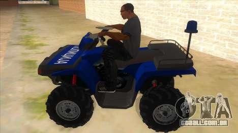 ATV Polaris Police para GTA San Andreas esquerda vista
