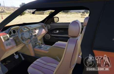 GTA 5 Range Rover Evoque 3.0 traseira direita vista lateral