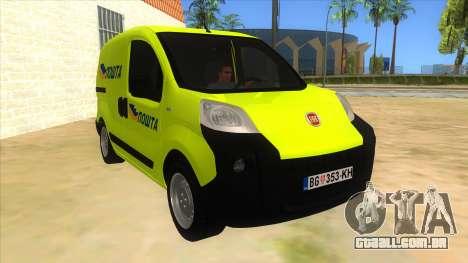 Fiat Fiorino para GTA San Andreas vista traseira