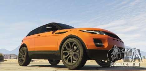 GTA 5 Range Rover Evoque 3.0 traseira vista lateral esquerda