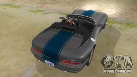 HD Banshee update para GTA San Andreas vista inferior