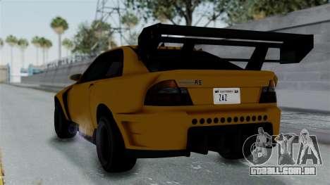 GTA 5 Karin Sultan RS Drift Big Spoiler PJ para GTA San Andreas esquerda vista