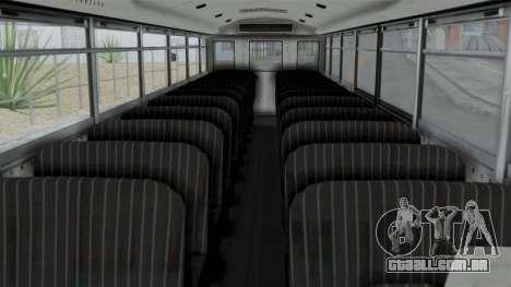Bus from Life is Strange para GTA San Andreas vista direita