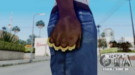 The King Knuckle Dusters from Ill GG Part 2 para GTA San Andreas terceira tela