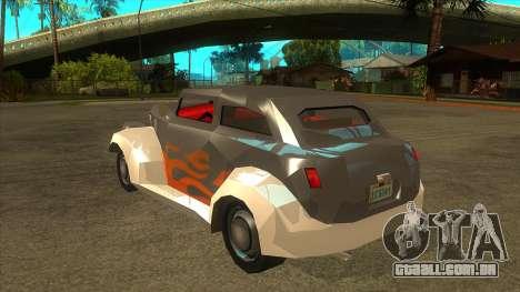 GTA LCS Thunder-Rodd para GTA San Andreas traseira esquerda vista