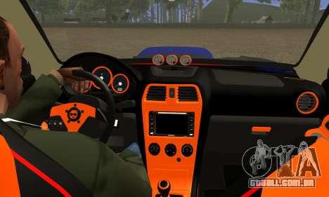 Subaru Impreza WRX STI Lisa para GTA San Andreas vista interior