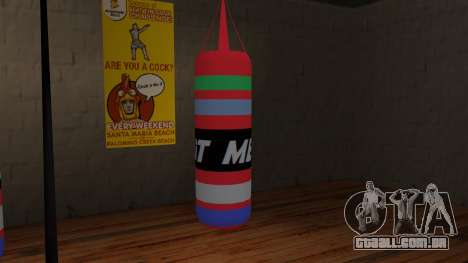 New Punching Bag para GTA San Andreas segunda tela