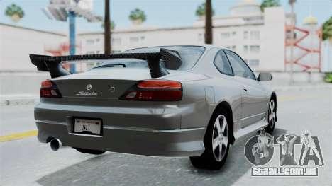 Nissan Silvia S15 Spec-R 2000 para GTA San Andreas esquerda vista