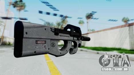 P90 Grey para GTA San Andreas segunda tela