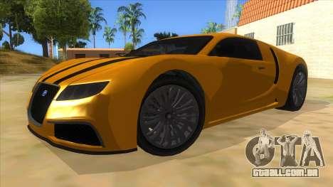 GTA 5 Truffade Adder para GTA San Andreas vista traseira