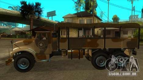 GTA V HVY Barracks OL para GTA San Andreas esquerda vista