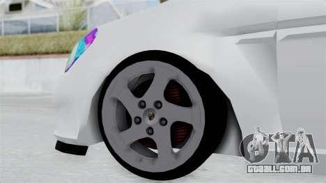 Hyundai Accent Essential Garage para GTA San Andreas traseira esquerda vista