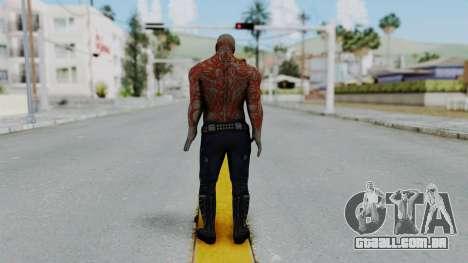Marvel Heroes - Drax para GTA San Andreas terceira tela
