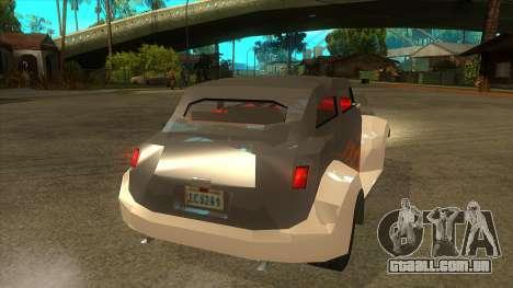 GTA LCS Thunder-Rodd para GTA San Andreas vista direita