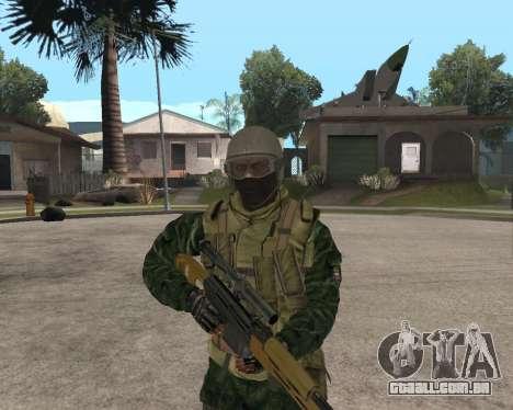 O exército russo Skin Pack para GTA San Andreas por diante tela