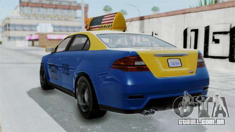 GTA 5 Vapid Stanier Ⅲ (Interceptor) Taxi para GTA San Andreas esquerda vista