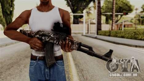 AK-47 F.C. Camo para GTA San Andreas terceira tela
