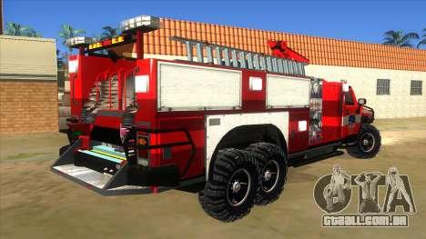 HUMMER H2 Firetruck para GTA San Andreas vista direita