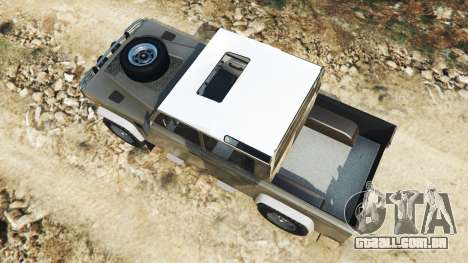 GTA 5 Land Rover Defender 110 Pickup voltar vista