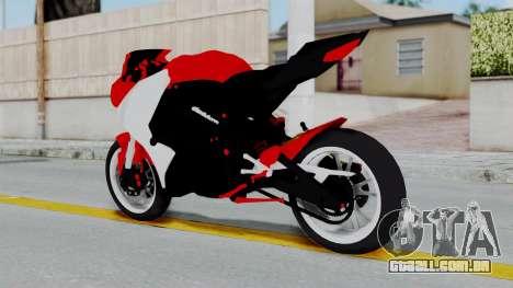 Yamaha YZF-R25 YoungMachine Concept para GTA San Andreas esquerda vista